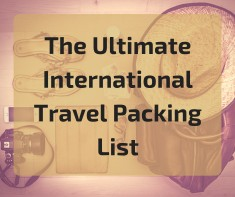The ultimate travel packing list
